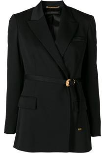 Versace Blazer Com Cinto - Preto