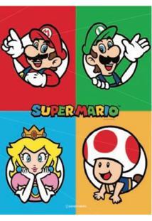 Quadro Em Metal Super Mario Personagens Geek10