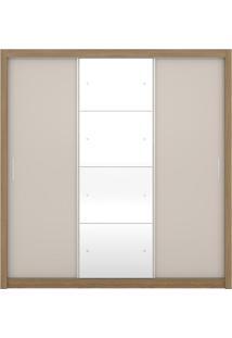 Guarda-Roupa 3 Portas Demóbile Residence Ii, Amêndoa E Off White