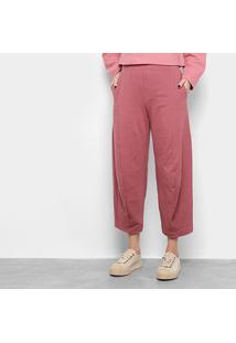 Calça Osklen Rustic Cool Shape Feminina - Feminino-Rosa Escuro