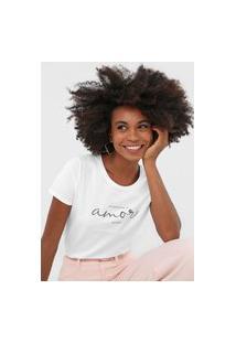 Camiseta Rovitex Amor Branca