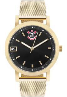 Relógio Clubes Technos Corinthians Feminino - Feminino-Dourado