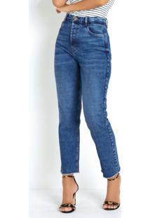 Calça Reta Jeans Sawary