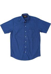 Camisa Fast Back Masculina Manga Curta - Masculino-Azul Escuro
