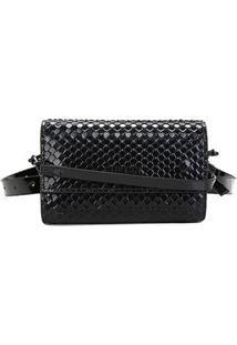 Bolsa Couro Colcci Mini Bag Snack Feminina - Feminino-Preto