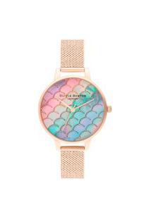 Relógio Olivia Burton Feminino Aço Rosé - Ob16Us45