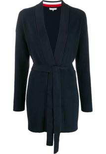 Tommy Hilfiger Belted Long Cardigan - Azul