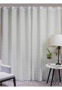 Cortina Lava Fácil Voil Suprema Eloisa 2,80X2,50M – Marka Têxtil - Branco