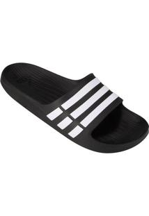 Chinelo Slide Adidas Duramo - Unissex-Preto+Branco