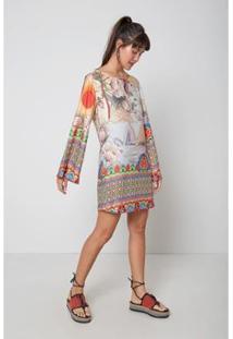 Vestido Est Jardim Oriental Color - Oh, Boy! - Feminino