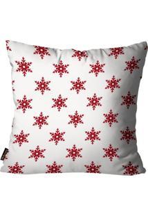 Capa Para Almofada Mdecore Natal Estrela Branca 45X45Cm