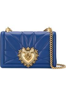 Dolce & Gabbana Bolsa Tiracolo Devotion Pequena - Azul