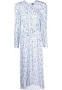 Isabel Marant Vestido Telenda Com Estampa Floral - Branco
