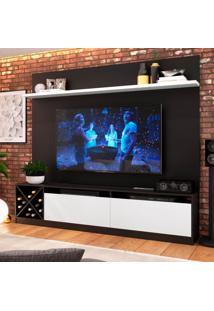 Estante Home Para Tv Até 60 Polegadas Bianca Preto E Branco