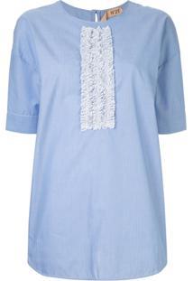 Nº21 Blusa Listrada - Azul