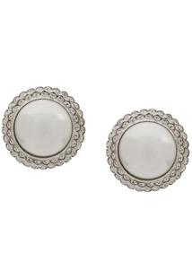 Alessandra Rich Pearl Clip-On Earrings - Branco
