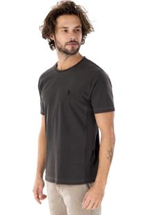 Camiseta Side Walk Camiseta Canguru Rib Cinza