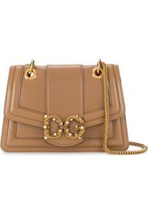 Dolce & Gabbana Bolsa Tiracolo Com Placa De Logo E Aplicações - Neutro