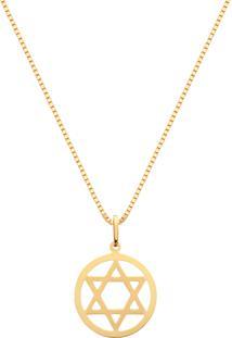 Pingente Estrela De Davi Ouro Amarelo