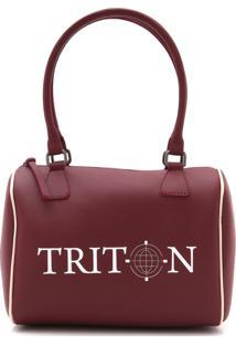 Bolsa Baú Triton Logo Vinho