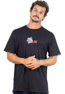 Camiseta Alfa Tiger Masculina - Masculino-Preto