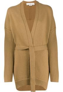 Golden Goose Cardigan Texturizado Com Cinto - Neutro