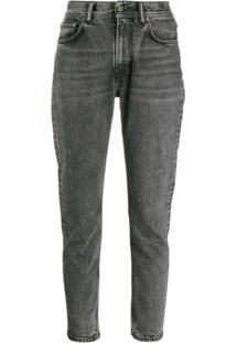 Acne Studios Calça Jeans Melk Black Marble Com Lavagem - Cinza