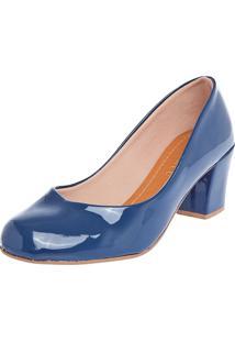 Scarpin Fiveblu Salto Médio Azul