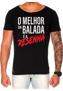 Camiseta Lucas Lunny T Shirt Gola Canoa Estampada O Melhor Da Balada Preto