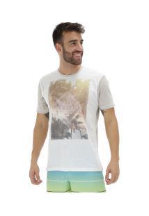 Camiseta Hd Especial 3216A - Masculina - Branco/Bege