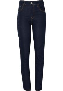Calça Le Lis Blanc Paula Skinny Raw Jeans Azul Feminina (Amaciado, 38)