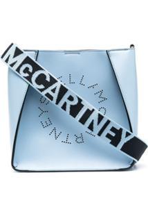 Stella Mccartney Small Stella Logo Shoulder Bag - Azul