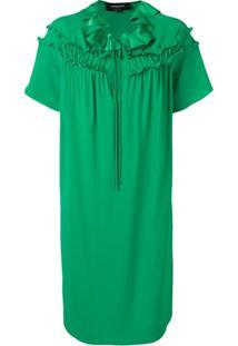 Rochas Vestido Com Detalhe De Babado - Verde