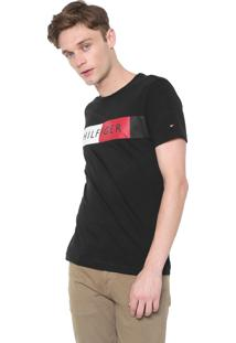 Camiseta Tommy Hilfiger Stripe Preta