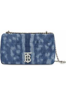 Burberry Bolsa Jeans Matelassê Lola Pequena - Azul