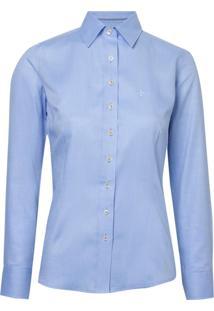 Camisa Ml Feminina Sarja Ft (Azul Claro, 46)
