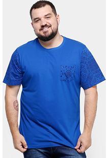Camiseta Yellowl Plus Size Mandala Bolso Masculina - Masculino