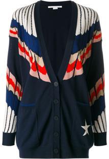Stella Mccartney Cardigan Com Decote - Azul