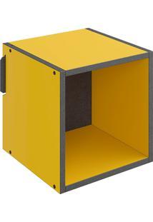 Nicho Pequeno Mov – Be Mobiliário - Amarelo / Carbono