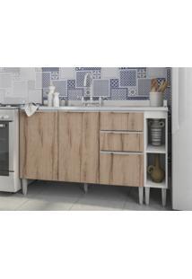 Balcão De Pia Com 1,40M Essence Desira/Branco - Aroma Cozinhas