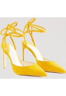 Scarpin Amarração Color Amarelo Mel