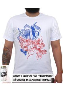 Samurai Dragão - Camiseta Clássica Masculina