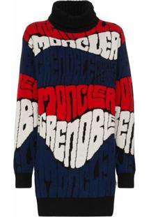 Moncler Grenoble Suéter Com Padronagem De Logo - Preto
