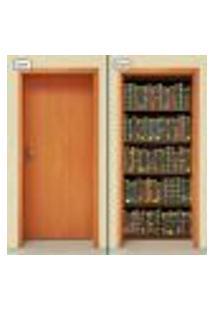 Adesivo Decorativo De Porta - Estante Livros - 1569Cnpt