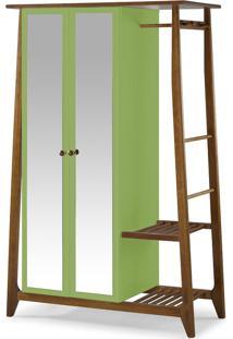 Armário Multiuso 2 Portas Stoka 982 Nogal/Green - Maxima