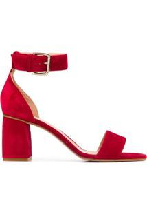 Red Valentino Sandália Salto Bloco - Vermelho