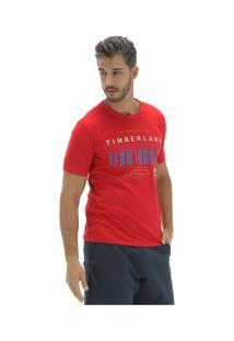 Camiseta Timberland Morse Code - Masculina - Vermelho