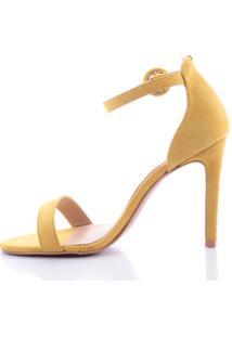 Sandália Miriam 1000-80560 Couro Amarelo (Petalo) Amarelo