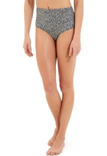 Calcinha Rosa Chá Audrey Modern Dots Beachwear Estampado Feminina (Modern Dots, P)