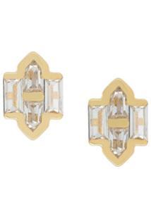 V Jewellery Brinco 'Celeste' Banhado A Ouro 18K - Metálico
